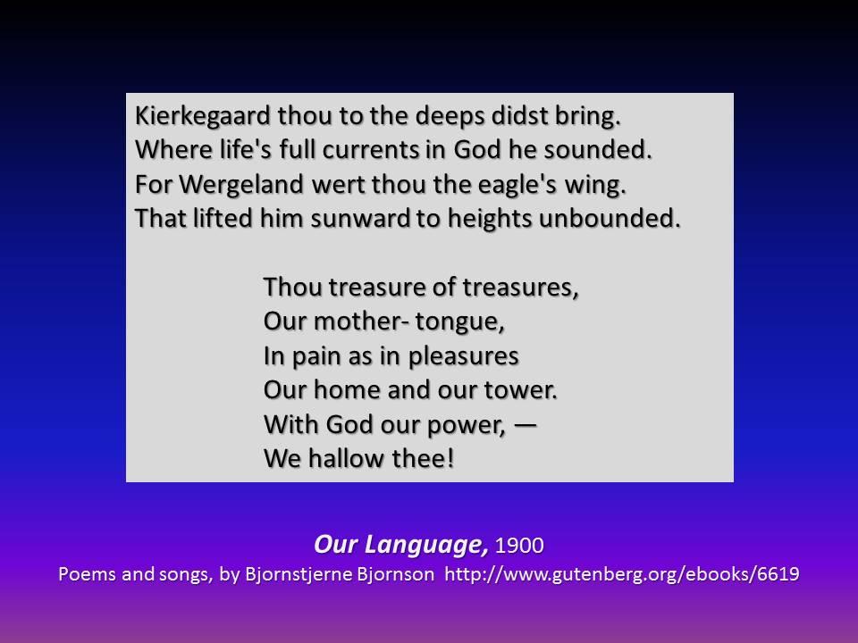 Bjornson on Kierkegaard