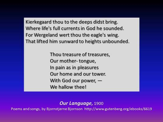 Bjornson on Kierkegaard