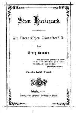 george brandes soren k in german first page