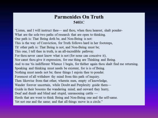 Parmenides on Being and Non-Being