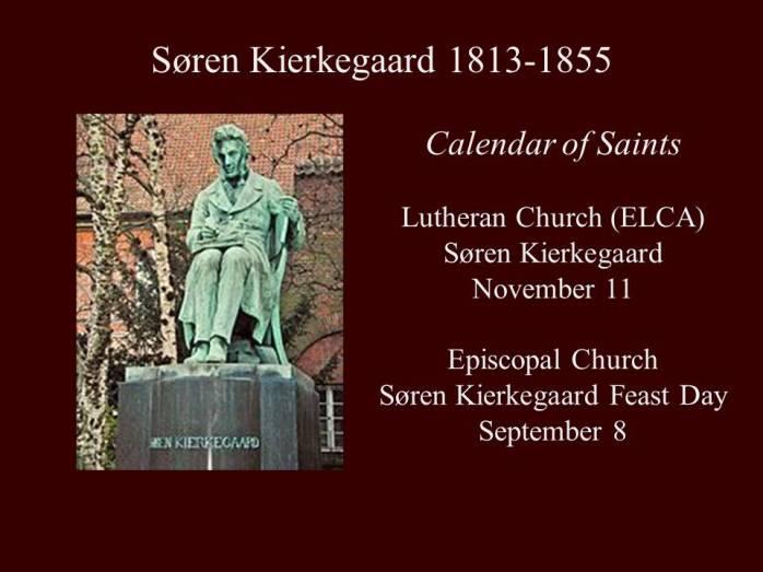 Soren Kierkegaard saint