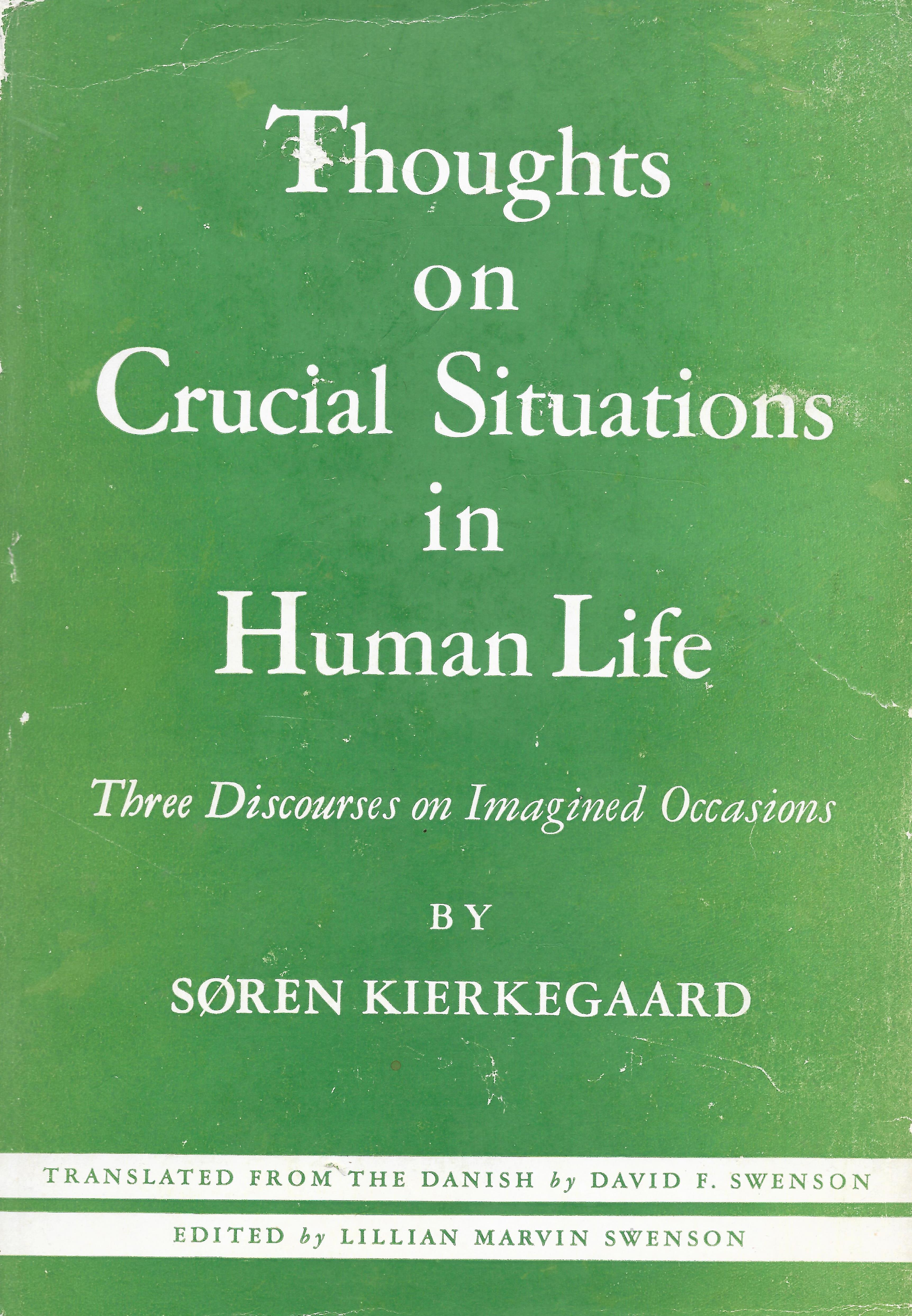 soren kierkegarad 3 stages of life Three discourses on imagined occasions, otherwise known as thoughts on crucial situations, was published concurrently with stages on life's way in stages on life's way kierkegaard posited three stages of life, or spheres of existence: the esthetic, the ethical and the religious.