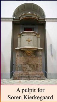 pulpit for soren at trinitatis