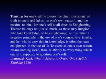 kant thinking