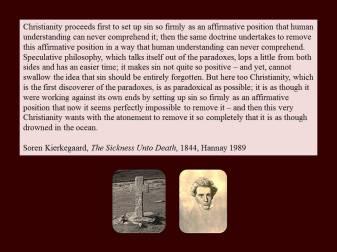 kierkegaard downed sin in the ocean