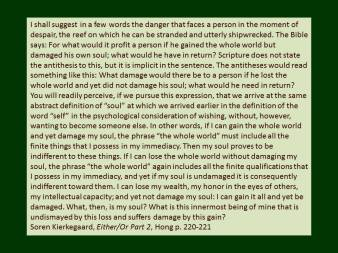 kierkegaard on damaging the soul