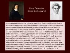 Kierkegaard on descartes doubt