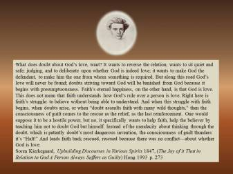 Kierkegaard on faith doubt and guilt 1847