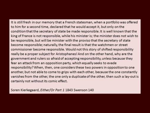 kierkegaard on French statesmen