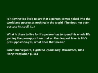 Kierkegaard soul