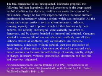 Nietzsche bad conscience